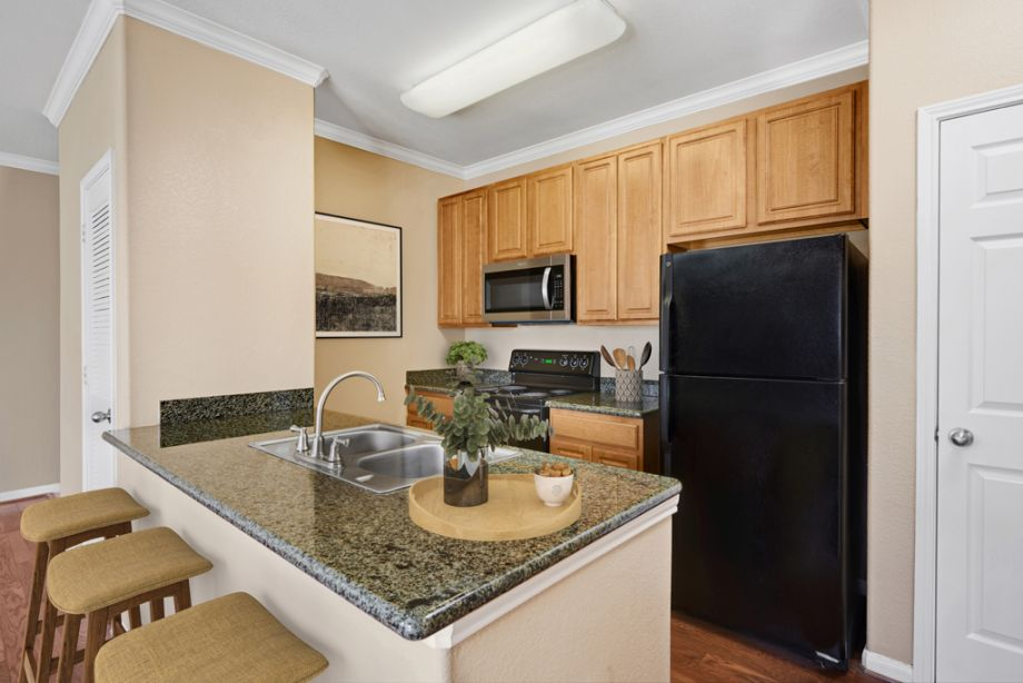 Kitchen at Camden Downs at Cinco Ranch Apartments in Katy, TX