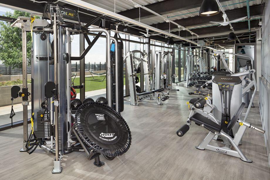 Fitness Center at Camden Downtown Houston apartments in Houston, Texas