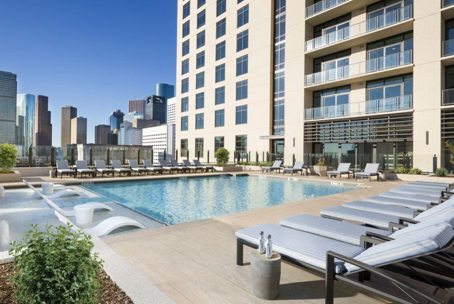Swimming Pool at Camden Downtown Houston apartments in Houston, Texas