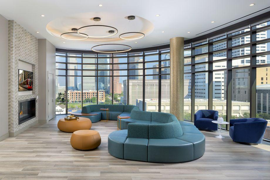 Resident lounge at Camden Downtown Houston apartments in Houston, Texas