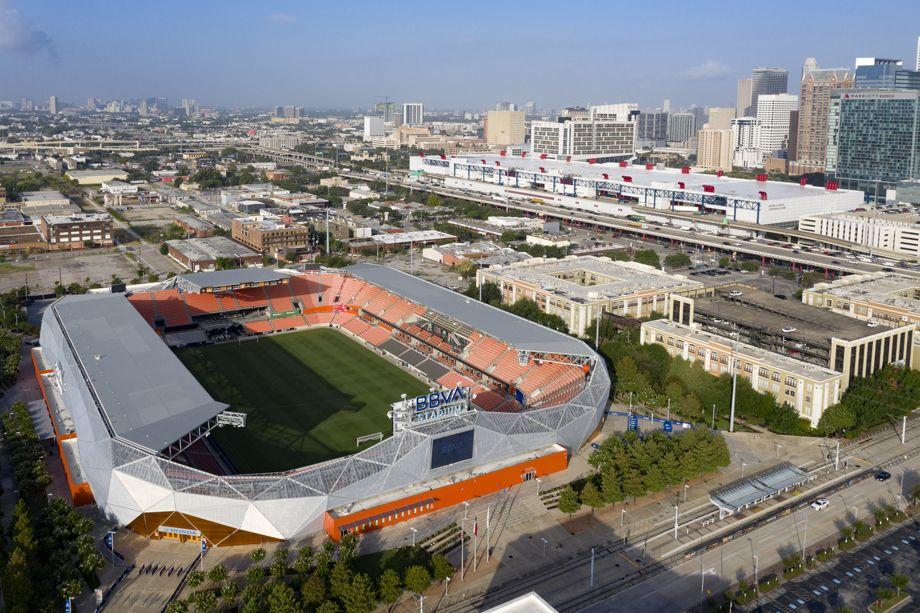 BBVA Compass Stadium near Camden Downtown Houston apartments in Houston, Texas