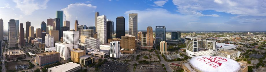 Panoramic Downtown Houston View near Camden Downtown Houston apartments in Houston, Texas