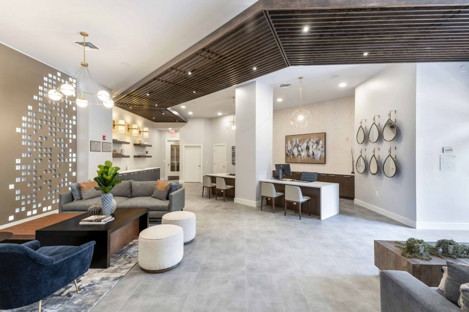 Lobby at Camden Dulles Station Apartments in Herndon, VA