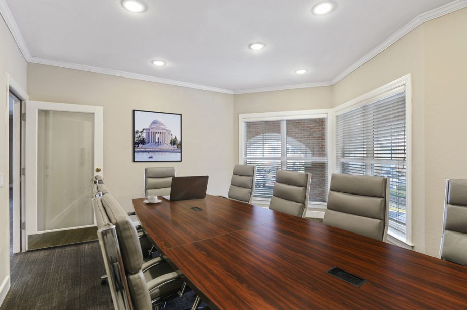 Conference room at Camden Fair Lakes Apartments in Fairfax, VA