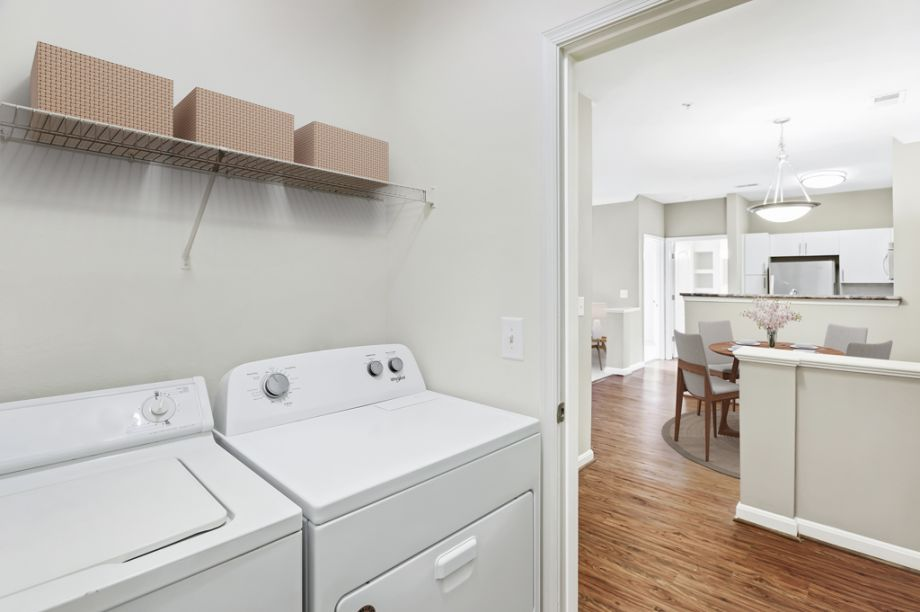 In-Unit laundry at Camden Fair Lakes Apartments in Fairfax, VA