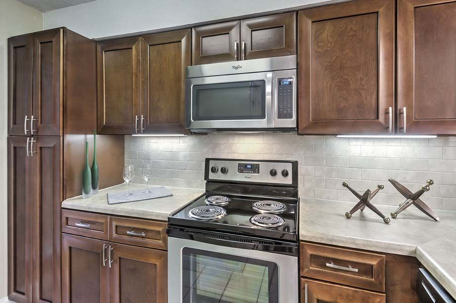 Stainless Steel Appliances in the Kitchen at Camden Fairview Apartments in Charlotte, NC
