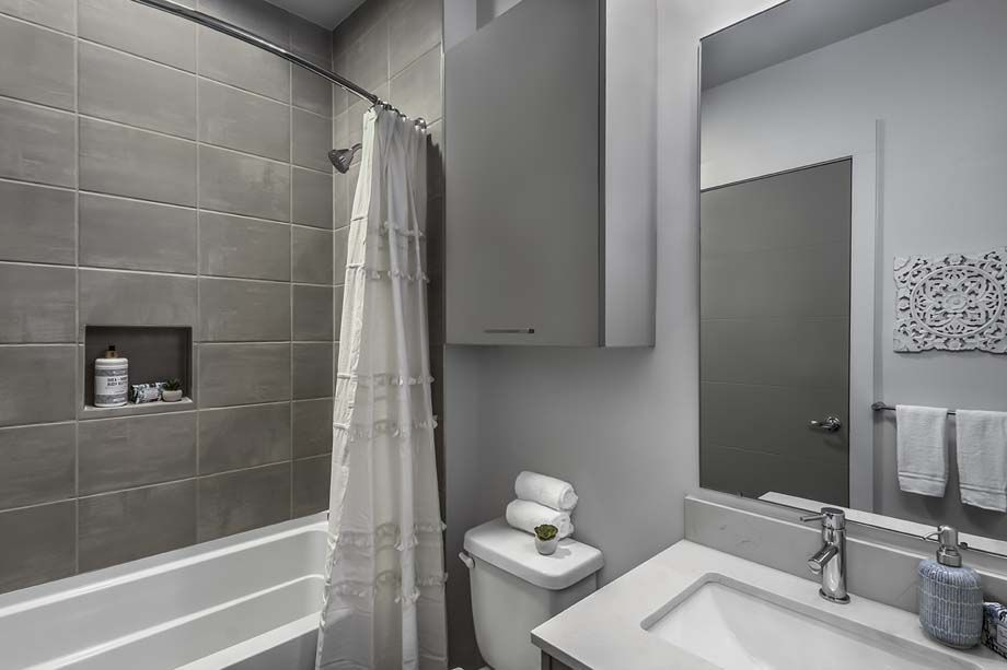 Second Bathroom at Camden Grandview Townhomes in Charlotte, NC