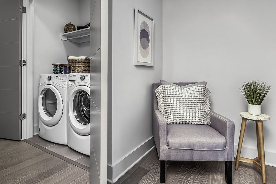 Laundry Area at Camden Grandview Townhomes in Charlotte, NC