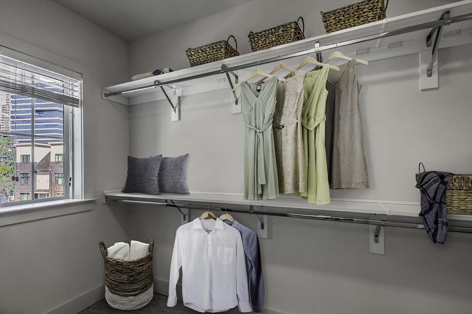 Closet at Camden Grandview Townhomes in Charlotte, NC