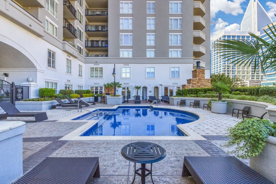 Swimming Pool with Sundeck at Camden Grandview Apartments and Townhomes in Charlotte, NC