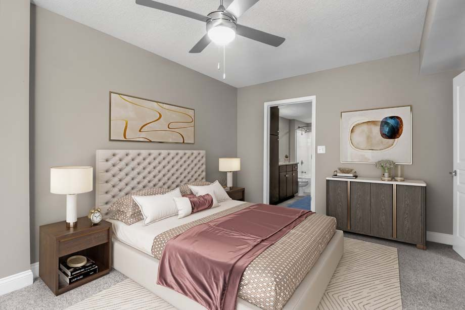 Bedroom at Camden Grandview Apartments in Charlotte, NC