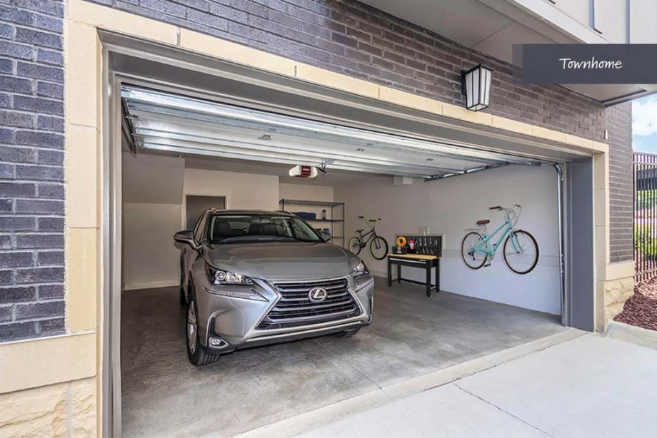 Private Two Car Garage at Camden Grandview Townhomes in Charlotte, NC