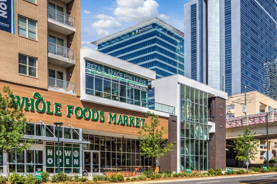 Whole Foods Market in Uptown Charlotte near Camden Grandview Apartments and Townhomes in Charlotte, NC