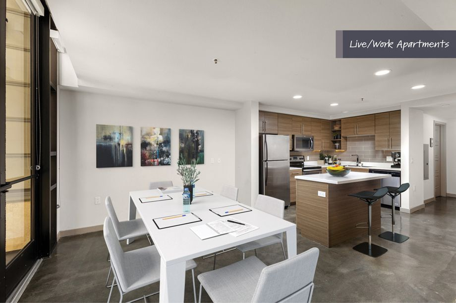 Multi-purpose conference or dining space at Camden Harbor View Live/Work Apartments in Long Beach, CA