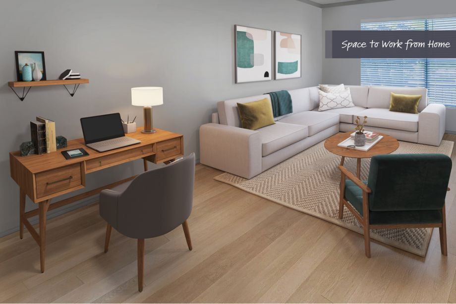 Home Office Space at Camden Highlands Ridge Apartments in Highlands Ranch, CO