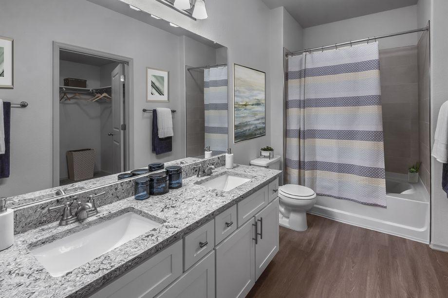 Bathroom at Camden Highlands Ridge Apartments in Highlands Ranch, CO