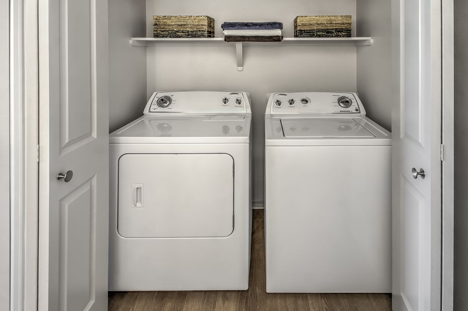 Full-Size Washer and Dryer at Camden Interlocken Apartments in Broomfield, CO