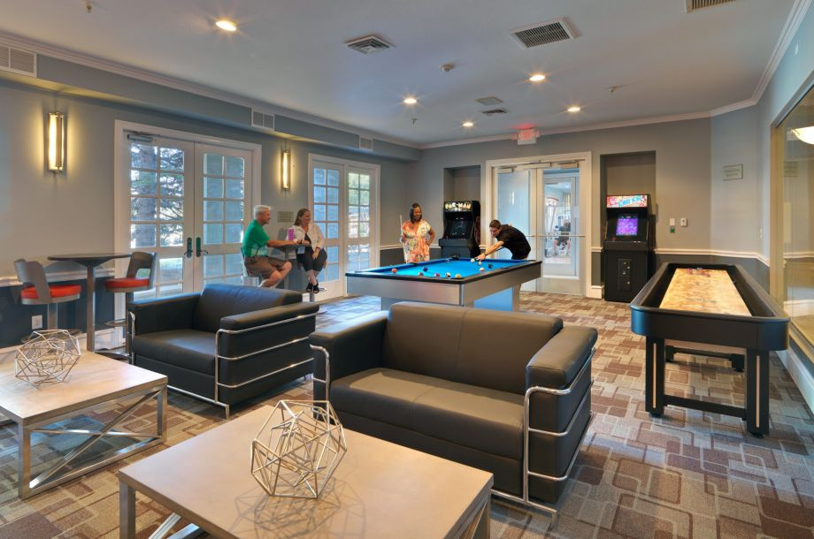 Game Room at Camden Lakeway Apartments in Lakewood, CO