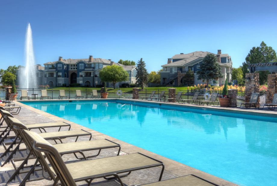 Pool at Camden Lakeway Apartments in Lakewood, CO