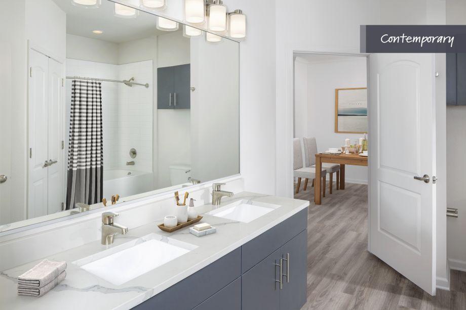 Contemporary Bathroom at Camden LaVina Apartments in Orlando, FL
