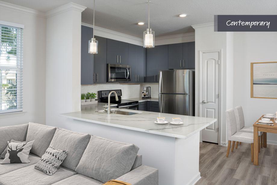 Contemporary Kitchen at Camden LaVina Apartments in Orlando, FL