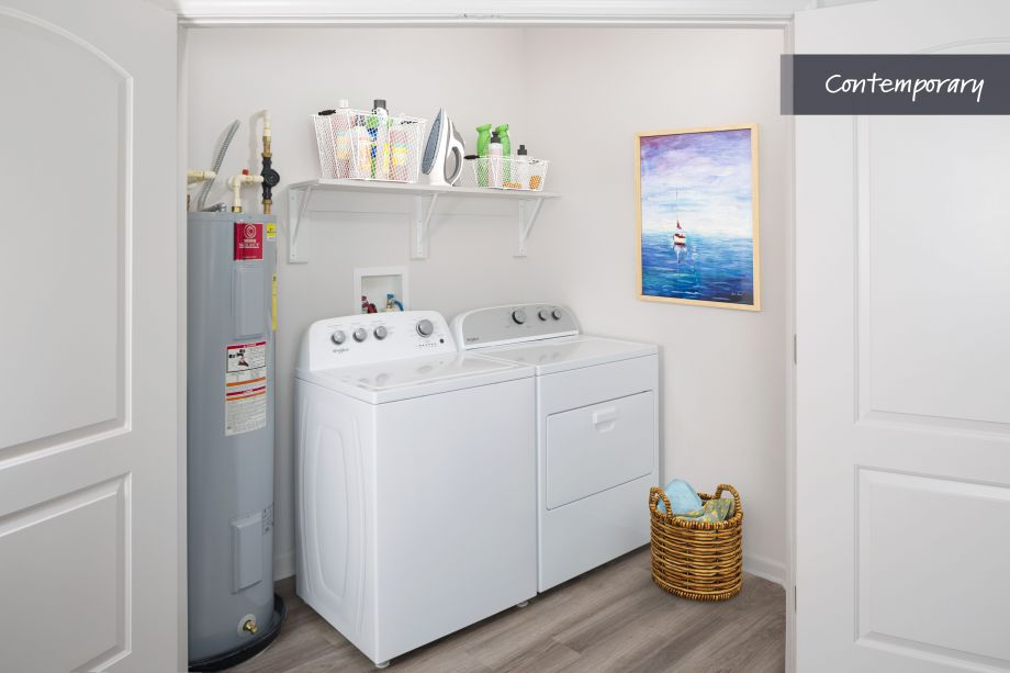 Contemporary Full Size Washer and Dryer at Camden LaVina Apartments in Orlando, FL
