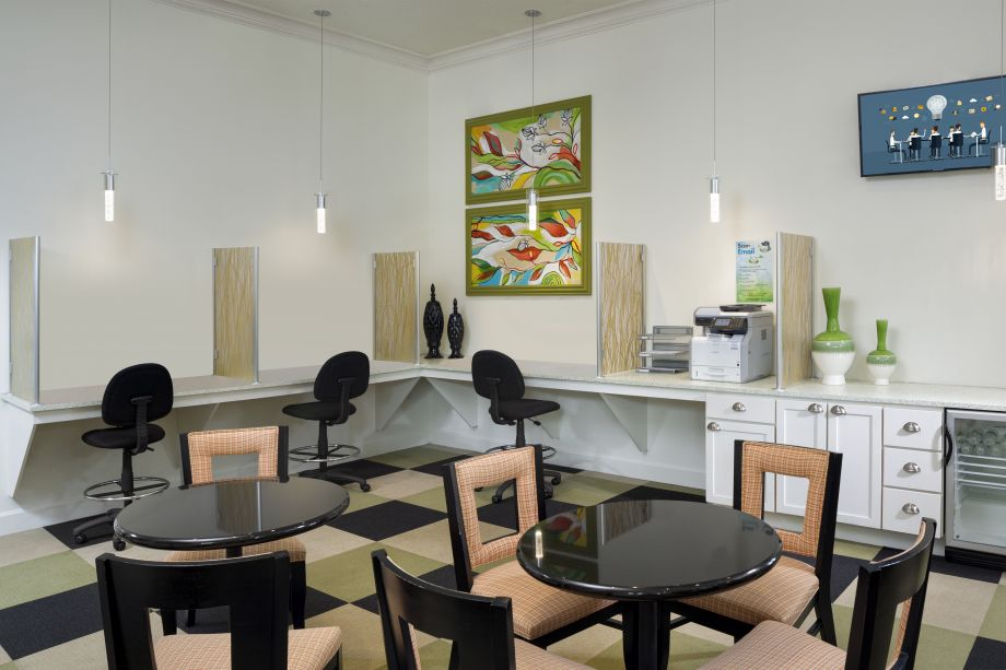 Community Workspace at Camden LaVina Apartments in Orlando, FL