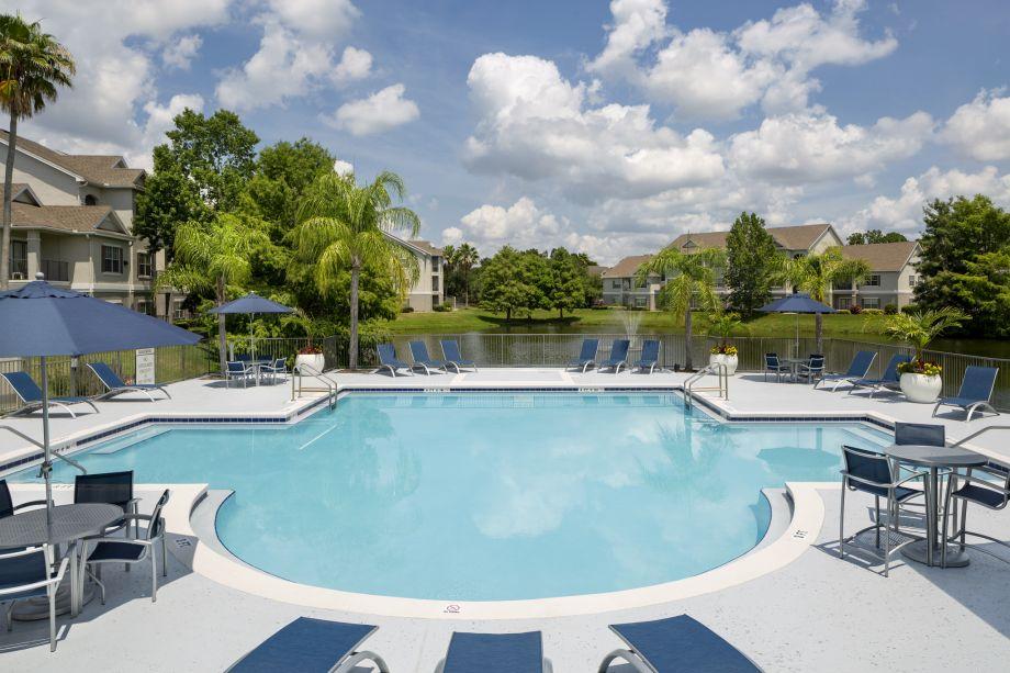 Pool at Camden Lee Vista Apartments in Orlando, FL