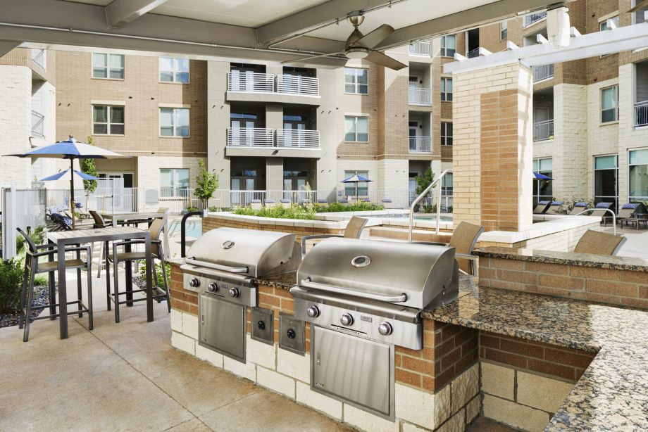 Outdoor BBQ Grills at Camden Lincoln Station Apartments in Lone Tree, CO