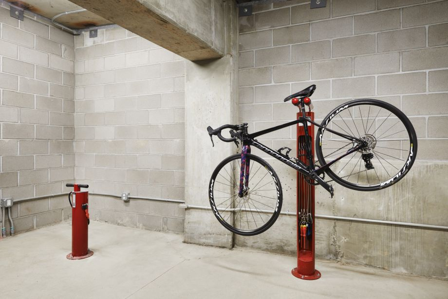 On-Site Bicycle Repair Station at Camden Lincoln Station Apartments in Lone Tree, CO