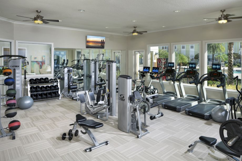 Gym at Camden Montague Apartments in Tampa, FL