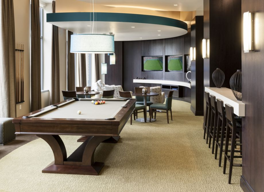 Resident Game Lounge with Billiards at Camden NoMa Apartments in Washington, DC