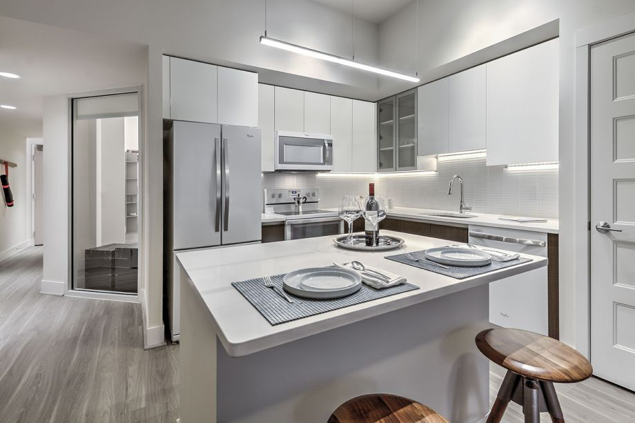 Kitchen with Quartz Countertops at Camden NoMa Apartments in Washington, DC