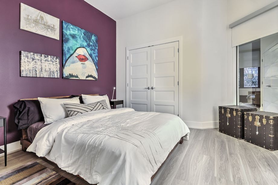 Bedroom with Hardwood Floors at Camden NoMa Apartments in Washington, DC