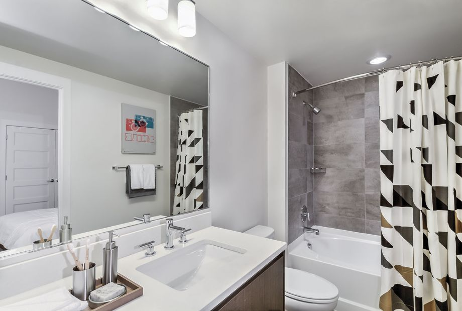 Modern Bathroom at Camden NoMa Apartments in Washington, DC