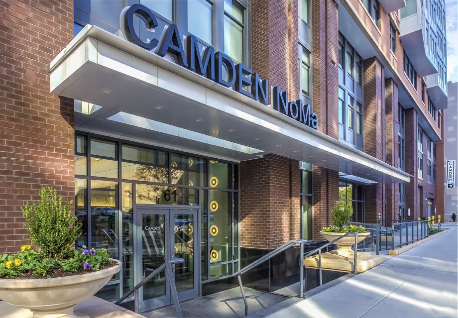 Camden NoMa Leasing Center Entrance at Camden NoMa Apartments in Washington, DC