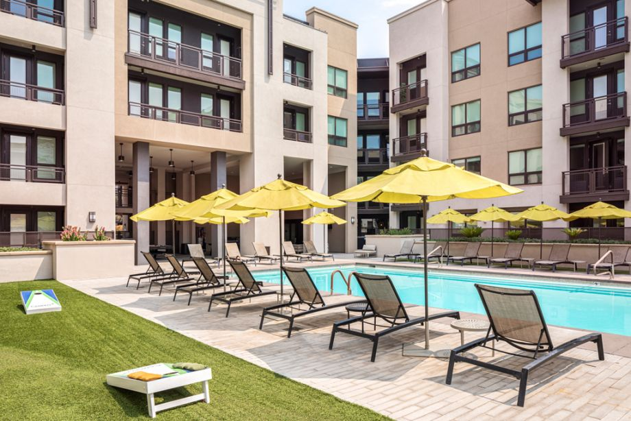 Swimming Pool with Lounge Chairs at Camden Old Town Scottsdale Apartments in Scottsdale, AZ