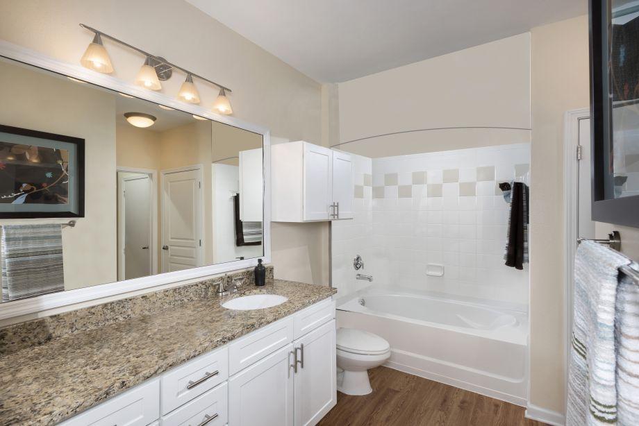 Bathroom at Camden Orange Court Apartments in Orlando, FL