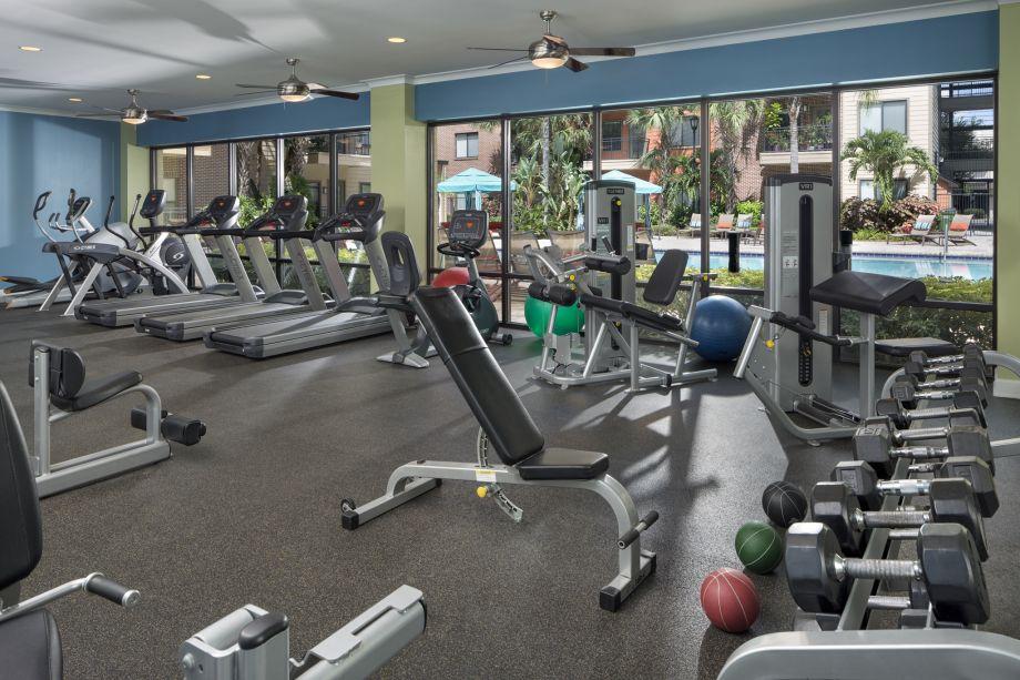 Fitness Center at Camden Orange Court Apartments in Orlando, FL
