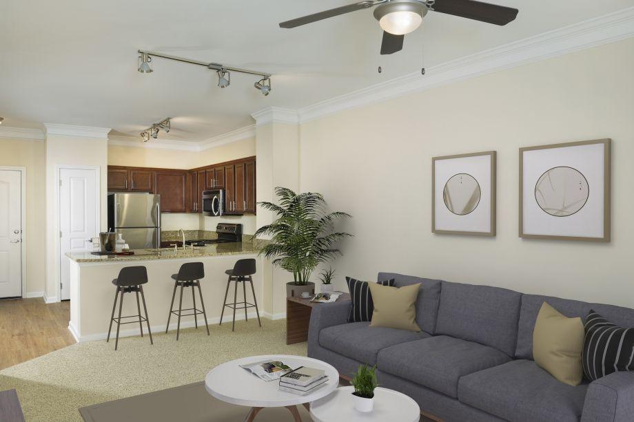 Kitchen at Camden Orange Court Apartments in Orlando, FL