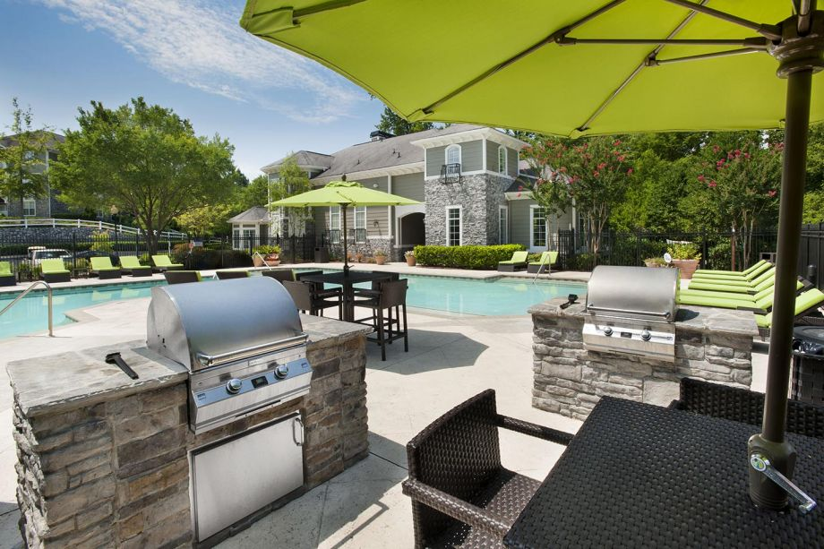 BBQ Grills at Camden Peachtree City Apartments in Peachtree City, GA
