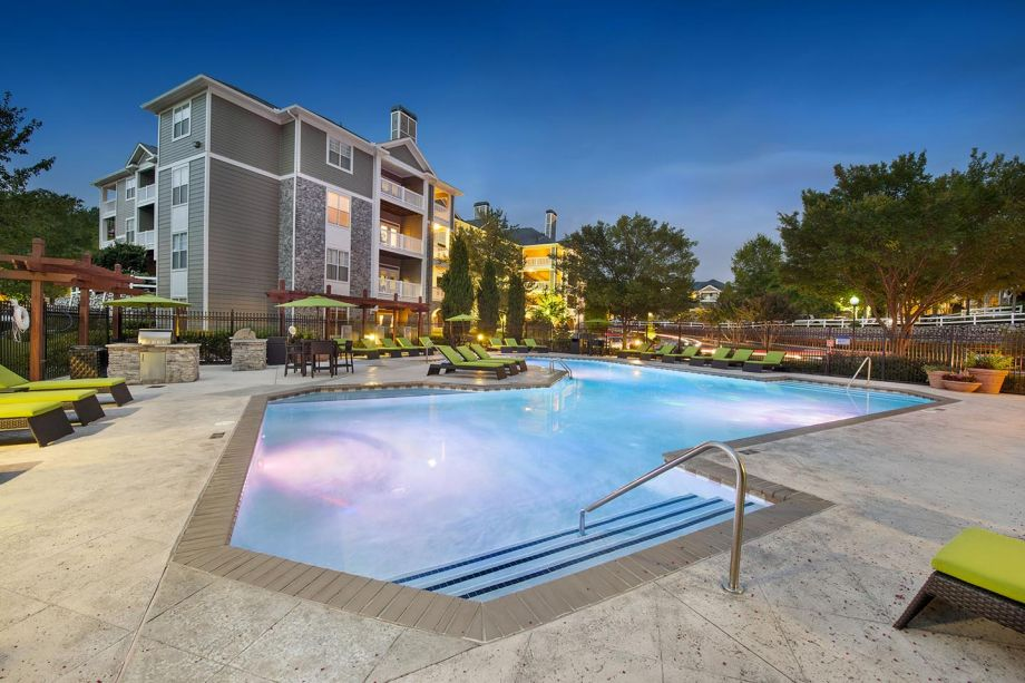 Pool at Camden Peachtree City Apartments in Peachtree City, GA