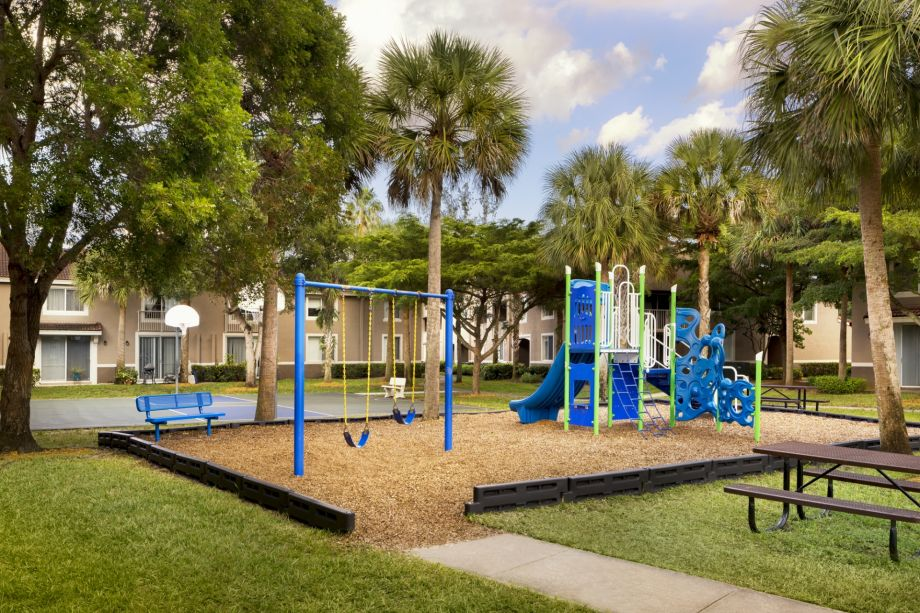 Playground at Camden Plantation Apartments in Plantation, FL