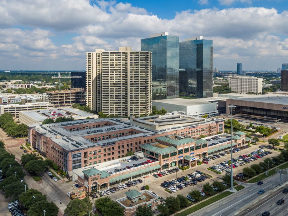 Greenway Plaza Aerial View at Camden Plaza Apartments in Houston, TX