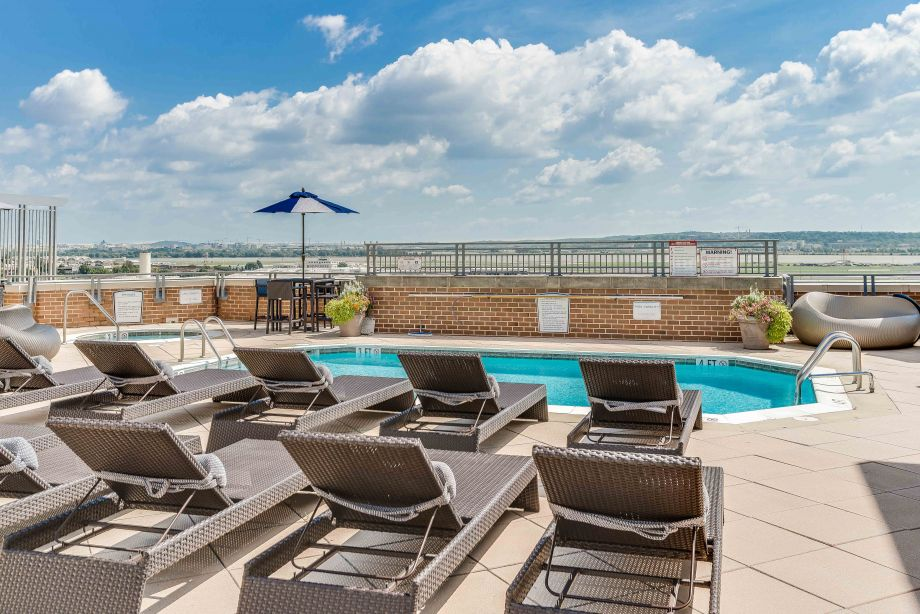 Pool at Camden Potomac Yard Apartments in Arlington, VA