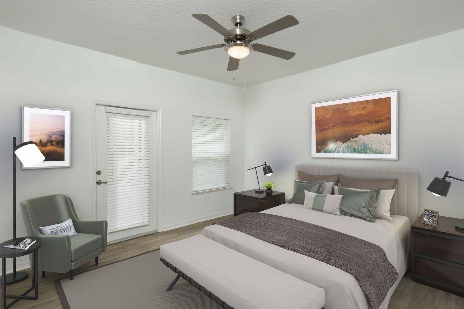 Bedroom at Camden Preserve Apartments in Tampa, FL