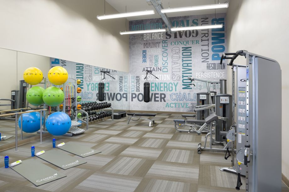 Gym and Yoga at Camden Preserve Apartments in Tampa, FL