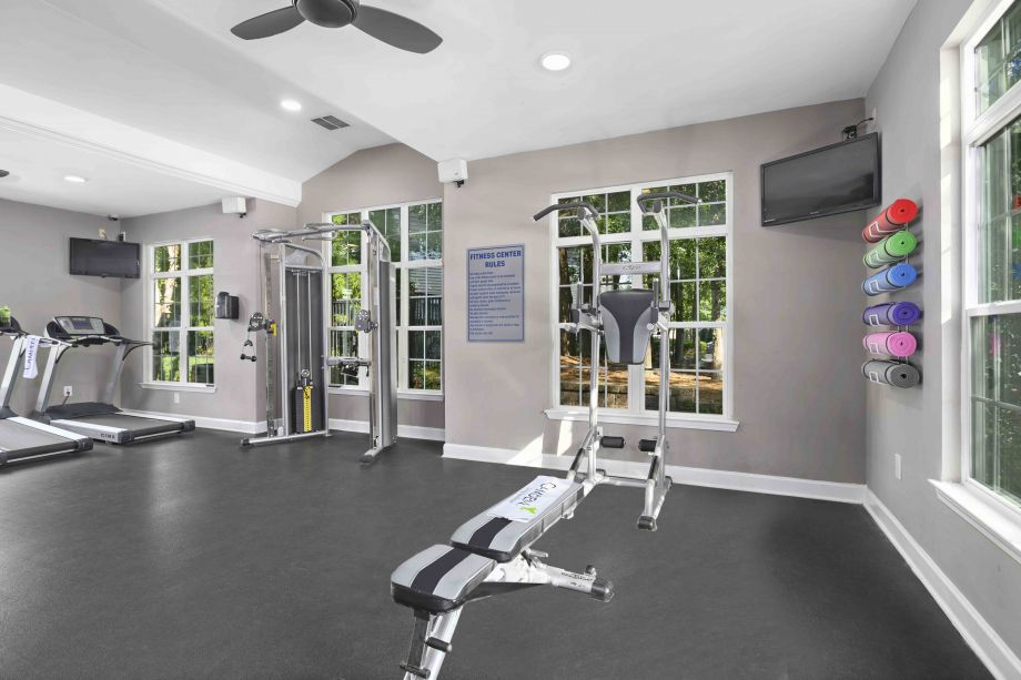 Fitness Center at Camden Reunion Park Apartments in Apex, NC