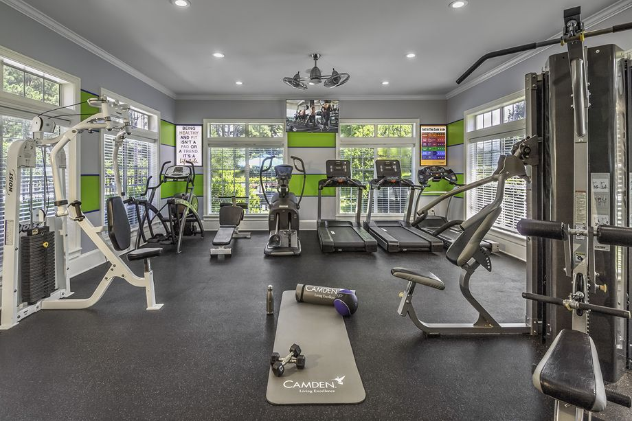 Fitness Center at Camden Shiloh Apartments in Kennesaw, GA
