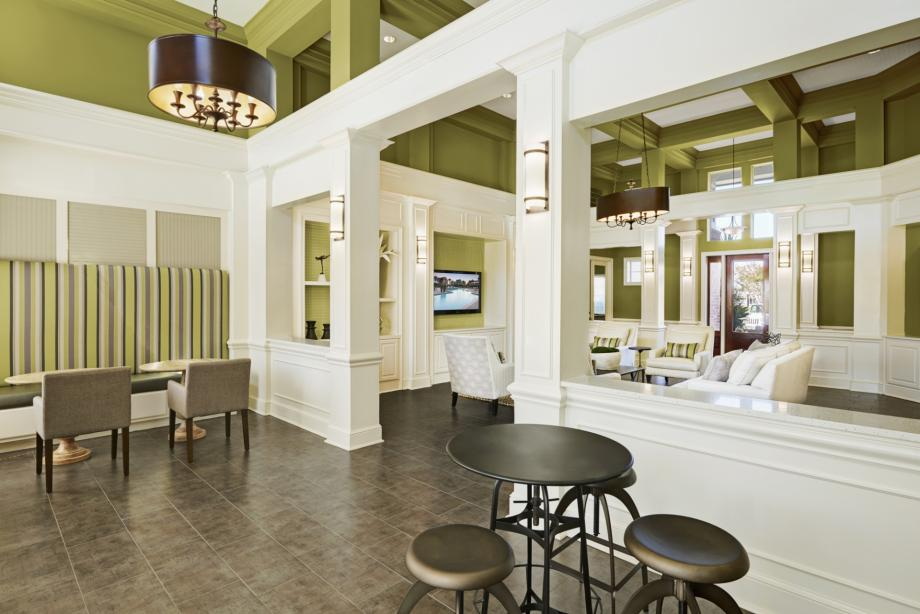 Social Lounge with Coffee Bar at Camden South Bay Apartments in Corpus Christi, TX